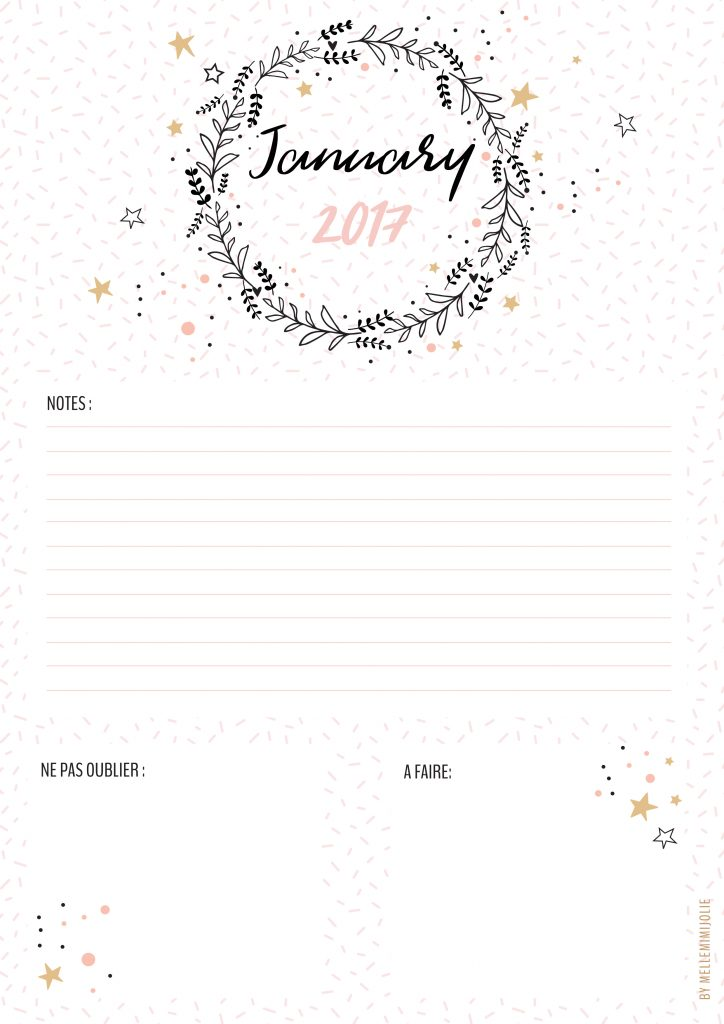 january-notes-printable