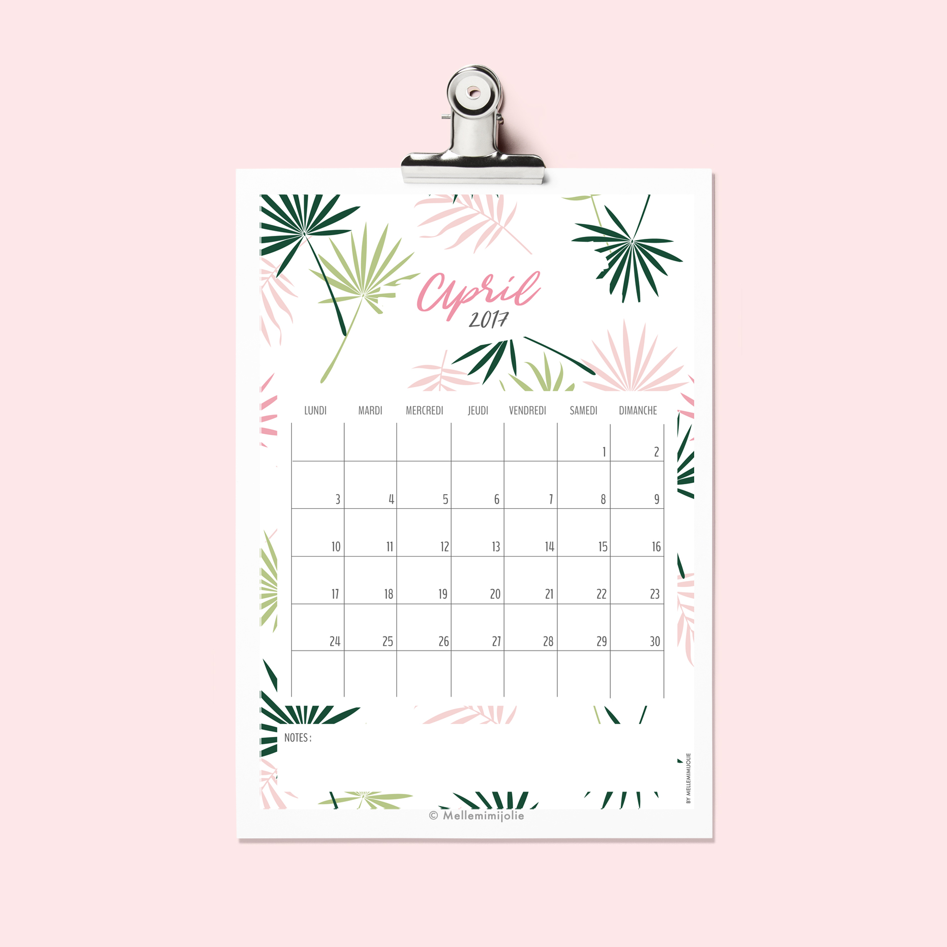 avril-printable-CALENDRIER